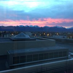 Sunrise from the Fourth Floor of the Anchorage Museum