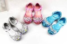 Bling Glitter Silver, Blue, and Pink Maryjane Girls Rhinestone Shoes. Toddler Girl Dress Shoes, Flower Girl Shoes, Girls Dress Shoes, Flower Girls, Princess Flower, Princess Shoes, Princess Fairytale, Princess Tiana, Frozen Princess