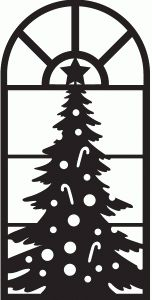 Silhouette Design Store: christmas tree window