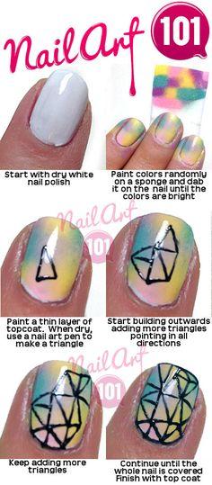 56 Best Nail Art 101 Tutorials Images On Pinterest Easy Nail Art