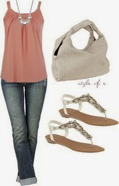 Street Fashion: Interesting Colored Shirt, Nice Jeans, Big Hand Bag, Beautiful Sandal, Lovely Necklace