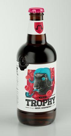Trophy Beer labels by Galya Akhmetzyanova & Pavla Chuykina branding