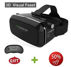MOGOO 3D VR Virtual Reality Glasses Headset  Suitable for Google iPhone Samsung Note LG Huawei HTC Moto screen smartphone ** Check out this great product.