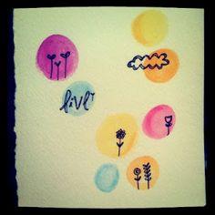 Watercolor Painting. :) #NightlyDoodles