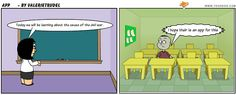 Create comics using text and visual. Classroom ideas:   Create a retell of a story to aid comprehension. Publish their own story in cartoon format. Could be used to focus on writing genres, eg/ a procedural text, narrative, persuasive etc Create characters for stories. Design a new ending for a story. Explain a concept.