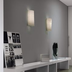 'Kite' Wall light with diffusor in fiberglass fabric with yellow Kevlar® or black carbon thread.