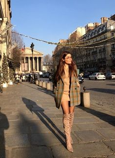 Hande Erçel - Paris street style.  #winterstyle #style #inspiration #coat #jacket #ideas #fashion #boots #Christmas (instagram)
