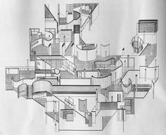 Fracturing and Displacement of Form: Daniel Libeskind's Early Collage Drawings (1967-1970)  from socks-studio