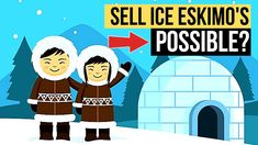 He is selling ice to an eskimo. He is so good at sales he can sell ice to an eskimo. But is it possible to sell ice to an eskimo? Public Speaking, How To Become, Ice, Training, Education, Things To Sell, Ice Cream, Teaching, Educational Illustrations