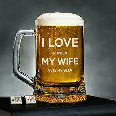 I Love My Wife - Kufel na piwo - Trafiony prezent