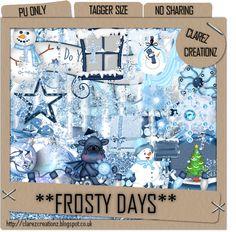 Frosty Days ftu Winter Scrap Kit... from Clarez Creationz.