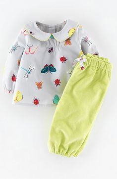 Mini Boden 'Pretty' Printed Top & Pants (Baby Girls) available at #Nordstrom