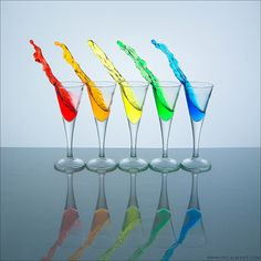 splash of color☺ rainbow plus I love liquid movement photography!!