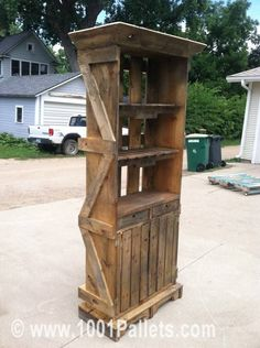 IMG 3087 597x800 Pallet Hutch in pallet home decor pallet furniture  with pallet Indoor furniture Hutch Crates