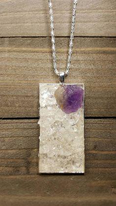 Amethyst Clear Quartz Selenite Protective Master Healer, Healing Reiki Charged High Vibration Metaphysical Energy Healing Spiritual