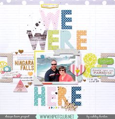 #papercrafting #scrapbook #layout - MAY 2015 HIP KIT CLUB Layout, created by Ashley Horton. To purchase our amazing HIP KITS and/or to subscribe to our HIP KIT CLUB visit our online store at WWW.HIPKITCLUB.NET