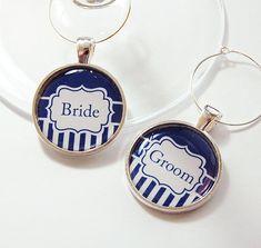 Bride & Groom Wine Charms