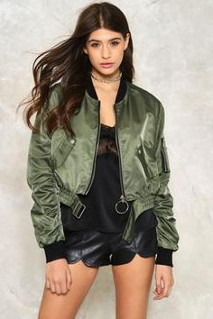 Nasty Gal All Revved Up Satin Bomber Jacket Found on my new favorite app Dote Shopping #DoteApp #Shopping