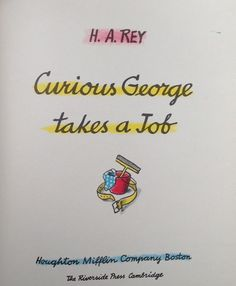 Curious George Takes a Job (1947) Title page
