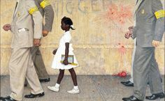 http://www.scottmcd.net/artanalysis/?p=818  Rockwell's The Problem We All Live With  1964