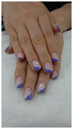 140 blue nail art ideas – page 1 Nail Tip Designs, French Nail Designs, Acrylic Nail Designs, Elegant Nails, Stylish Nails, Fancy Nails, Pretty Nails, Nagellack Trends, Nagel Gel