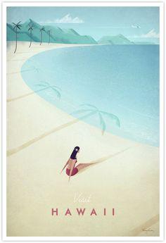 Vintage Travel Poster - Hawaii Vintage Travel Art