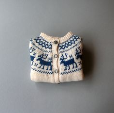 Vintage Child's Norwegian Wool Sweater Never Worn. $42.00, via Etsy.