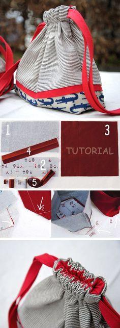 Drawstring Bag Pouch Tutorial    http://www.free-tutorial.net/2016/12/drawstring-bag-pouch-tutorial_18.html