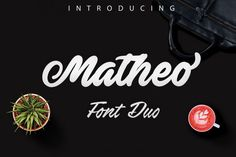 Matheo - new bold script lettering By Glym Forest