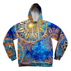 "New ""Gold BOHO Style"" Pullover Hoodie! Specifications: - 100% polyester but feels as soft as cotton - Guaranteed - Vibrant full color print, front & back - Design will never peel, flake or crack - Ext"