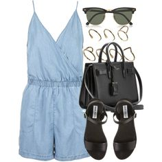 Style #8391 by vany-alvarado on Polyvore featuring mode, Topshop, Steve Madden, Yves Saint Laurent, ASOS and Ray-Ban
