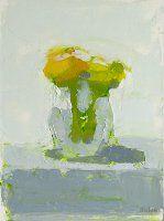 Twin Ranunculus, Stanley Bielen, oil on panel - The Munson Gallery