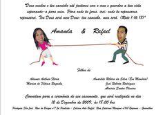 Convite de casamento do Rafael e Amanda (Software – CorelDraw)
