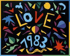 Yves Saint Laurent (1936-2008) Love Cartes de Vœux 1983