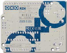 OXOUNO (Arduino/Genuino board repliche) printed tag Over Ten Ohm oxo-1 oxo uno
