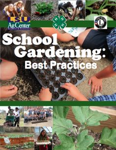 Here's a very helpful booklet on best practices in school gardening. There is information here on making gardens handicapped accessible, planting strategies, container gardens, themed gardens, and much more.