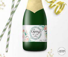 Mini Champagne label Custom Wedding Wine Label by LolliBella