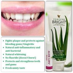 Forever Bright Toothgel! This gentle, non-fluoride formula contains aloe vera and bee propolis to help to strengthen and protect teeth and gums whilst fighting plaque and whitening teeth. This refreshing toothgel is ideal for your pets. Shop online now at: www.aloewellnessbyshelley.co.uk