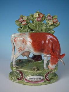 Sherratt Staffordshire 'Cup Toyda' (sic) Cow  ca1830