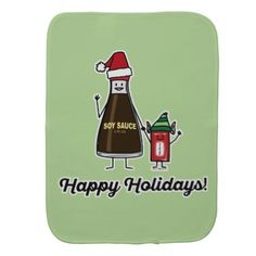 Soy Sauce Bottle Packet kid child Christmas Santa Baby Burp Cloth - parenting parents kid children mom dad family