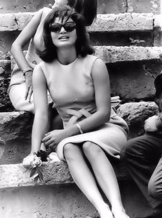 October 12, 1963: Jackie in Delphi, Greece, during a two-week recuperative vacation in Greece.