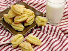 Soft Farmer's Cheese Cookies - this made about 50 cookies for me (a full big cookie sheet), not 80 - 100 like the recipe states. Maybe try rolling the dough out even thinner. DELICIOUS though. Gone the same night. Perhaps double the recipe. Ukrainian Recipes, Russian Recipes, Ukrainian Food, Russian Cookies, Cookie Recipes, Snack Recipes, Delicious Recipes, Baking Recipes, Snacks