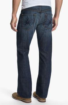 7 For All Mankind 'Brett' Bootcut Jeans (New York Dark) #Nordstrom LOVE THESE.