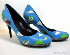 I will have these shoes.. And with them, I will jump on high flag poles just before entering a castle which will take me to the next level...