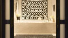 A deep soaking tub and a steam shower for two at @Beverly Wilshire (A Four Seasons Hotel) Presidential Suite