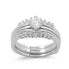 Vera's 4CT Brilliant Cut Cubic Zirconia Wedding Ring Set