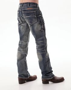 B Tuff Mens Blue 100% Cotton Denim Jeans Bootcut Casey