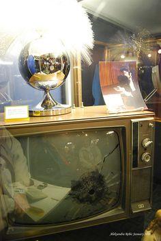 The TV bites the bullet at Graceland by AleksandraR, via Flickr #Elvis #Graceland