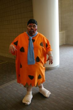 creative cosplay the walking fred flintstone that is fred flintstonecosplay costumeshalloween costumeskansas cityaliensfictional