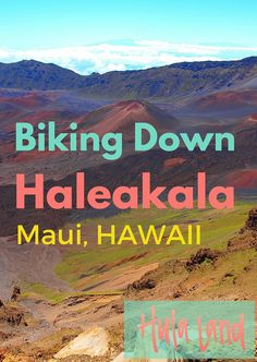 One of the coolest things to do on Maui is biking down the volcano. Haleakala bike rides are super fun!
